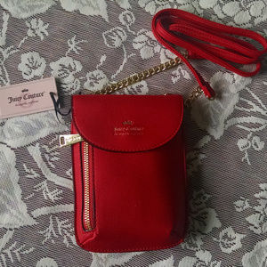 "Juicy Couture ""Cellie"" Mini Crossbody Bag Red NWT"